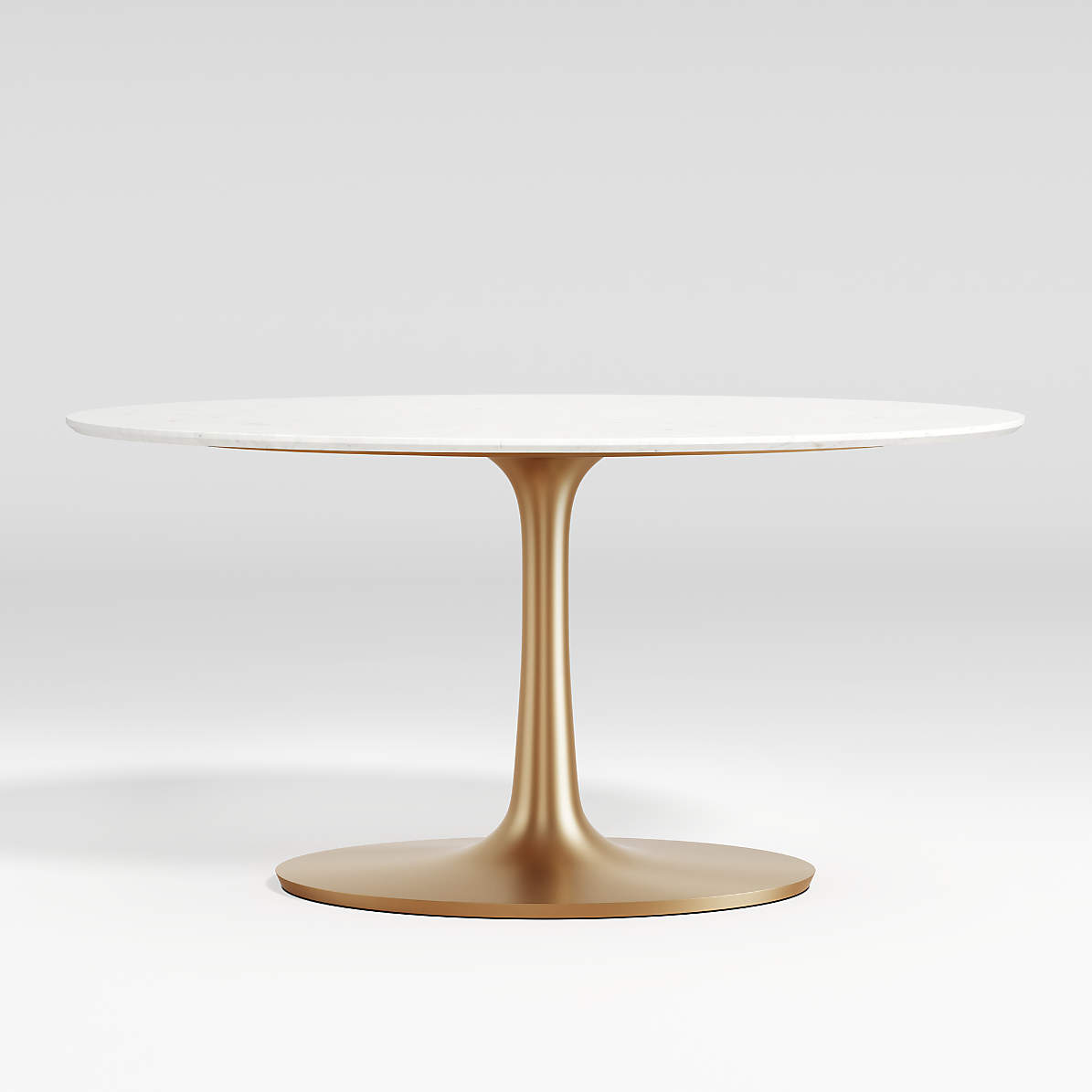 Nero Oval White Marble Dining Table With Brass Base Reviews Crate And Barrel Canada
