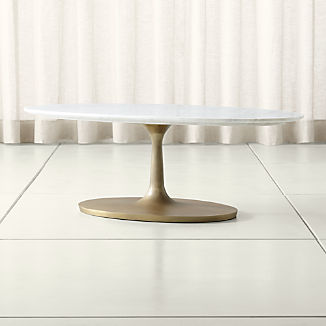 Nero White Marble Oval Coffee Table
