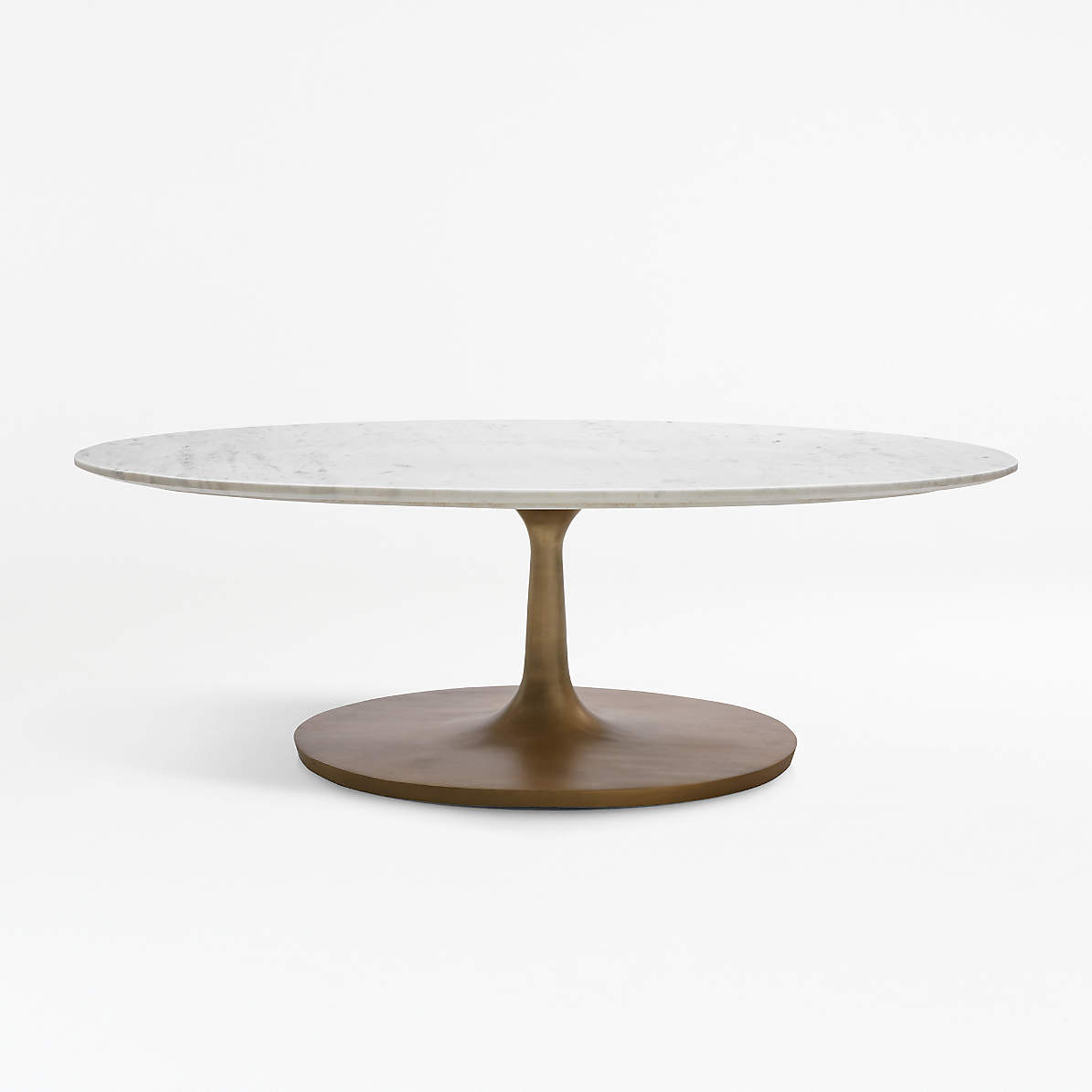 Nero White Marble Oval Coffee Table Reviews Crate And Barrel