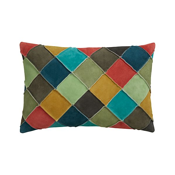 "Nesbit Multi 18""x12"" Pillow with Feather-Down Insert"