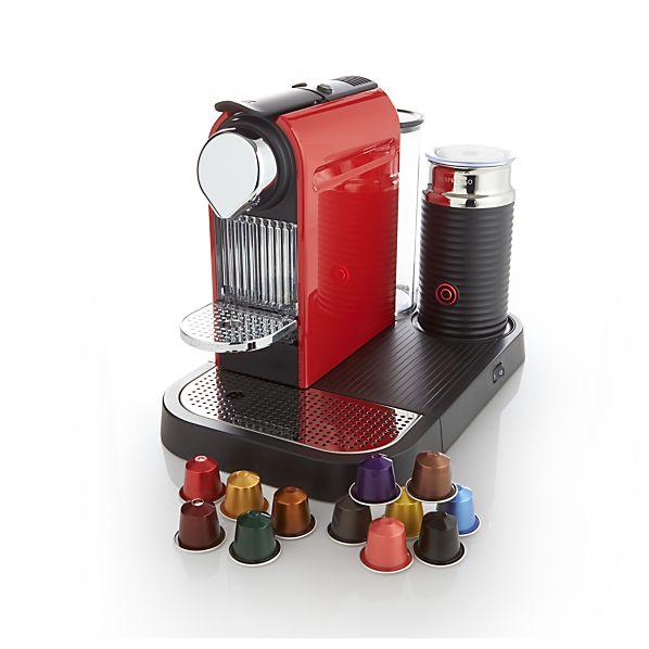 Nespresso ® Citiz Red Espresso Machine with Aeroccino Frother