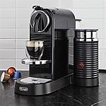 Nespresso ® by Delonghi Citiz Black Espresso Machine with Milk Frother