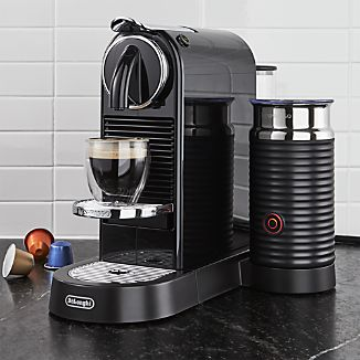 Nespresso ® by Delonghi Citiz Black Espresso Machine with Milk Frother