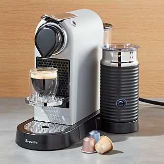 Nespresso ® by Breville Citiz Silver Espresso Machine with Milk Frother