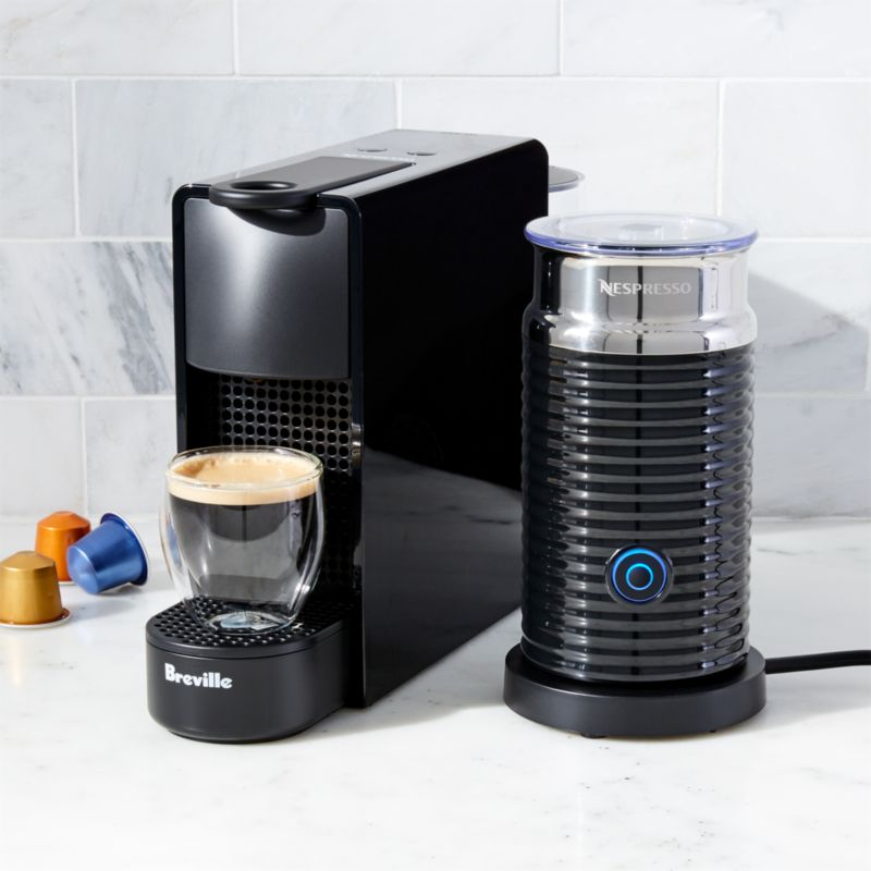 Nespresso ® by Breville Essenza Mini Black Espresso Maker Bundle ...