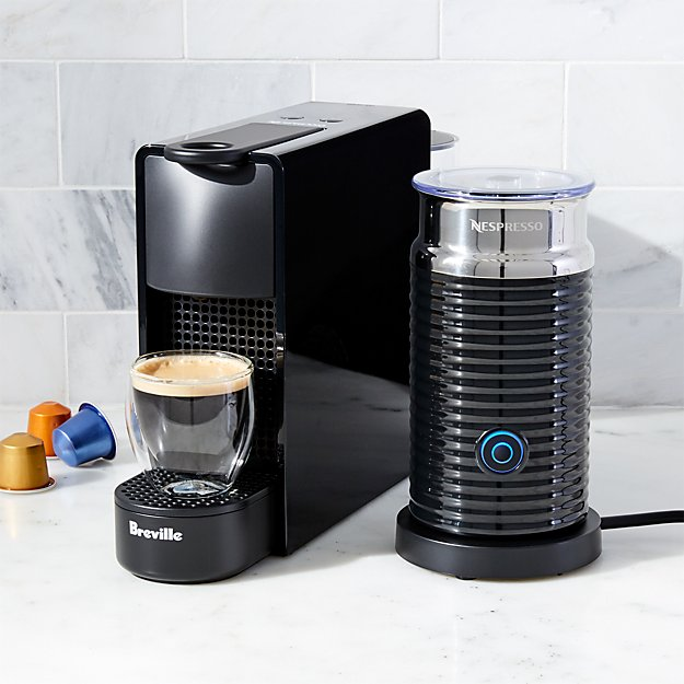 nespresso by breville essenza mini black espresso maker bundle reviews crate and barrel. Black Bedroom Furniture Sets. Home Design Ideas