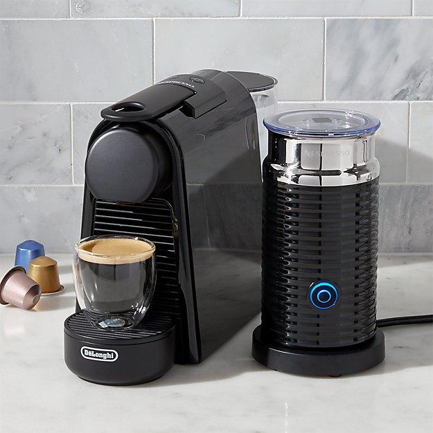 nespresso by delonghi essenza mini black espresso maker bundle reviews crate and barrel. Black Bedroom Furniture Sets. Home Design Ideas