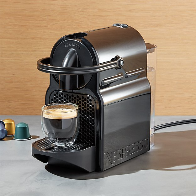 nespresso by delonghi inissia original line espresso maker reviews crate and barrel. Black Bedroom Furniture Sets. Home Design Ideas