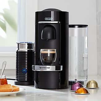 Nespresso ® by Delonghi Vertuo Deluxe Plus Black Coffee Maker Bundle