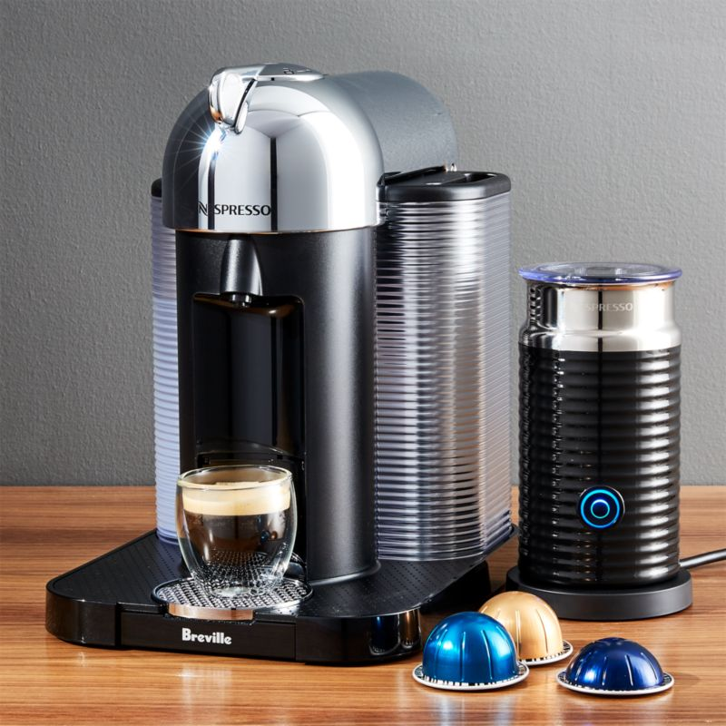 nespresso by breville vertuoline chrome maker bundle