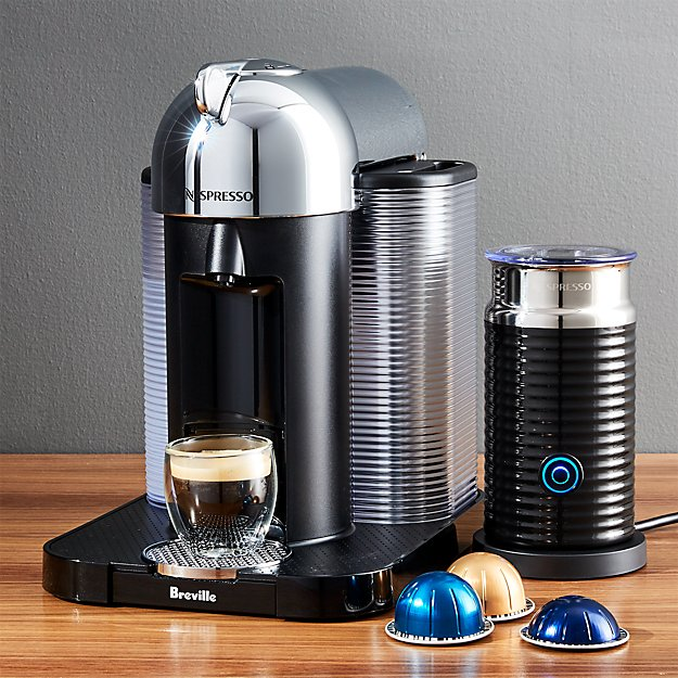 nespresso by breville vertuoline chrome coffee espresso maker bundle reviews crate and barrel. Black Bedroom Furniture Sets. Home Design Ideas