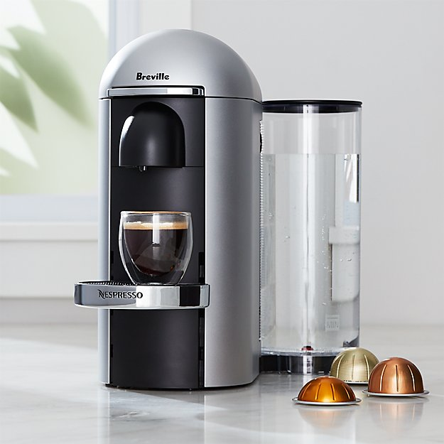nespresso by breville vertuo deluxe plus silver coffee maker reviews crate and barrel. Black Bedroom Furniture Sets. Home Design Ideas