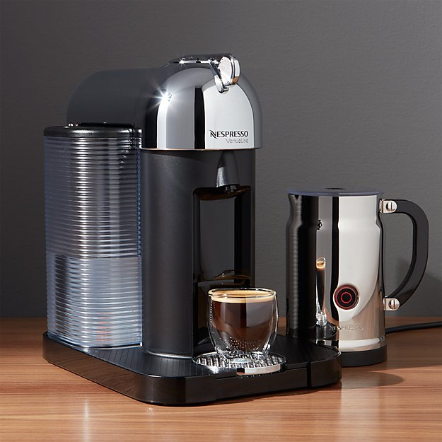 Nespresso ® VertuoLine Chrome Coffee-Espresso Maker Bundle
