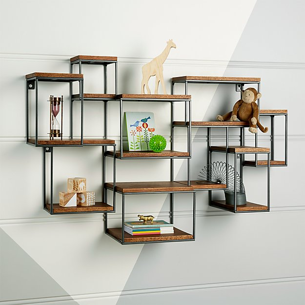 Design Decor Shopping Appstore For: Wide Network Brown Wall Shelf + Reviews