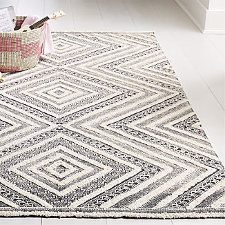 Diamond Neutral Patterned Rug
