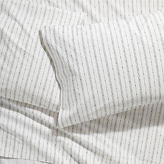 Neville Organic Grey Patterned Sheet Sets