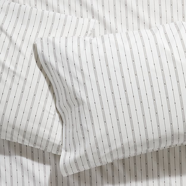 Neville Organic Grey Standard Pillowcases, Set of 2 - Image 1 of 6