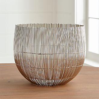 Decorative Centerpiece Bowls GlassMetalCrate and Barrel