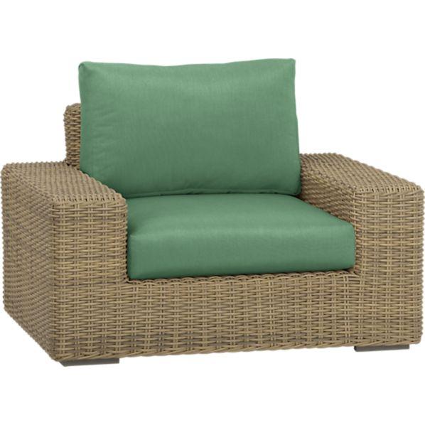 Newport Lounge Chair with Sunbrella ® Bottle Green Cushions