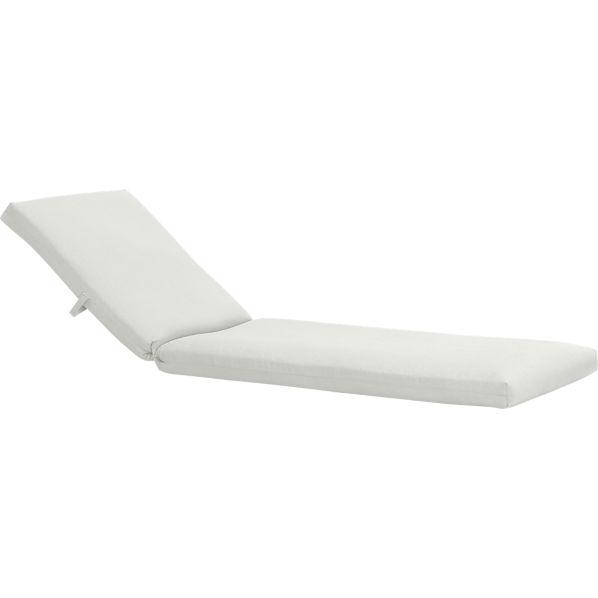 Newport Sunbrella ® White Sand Chaise Lounge Cushion