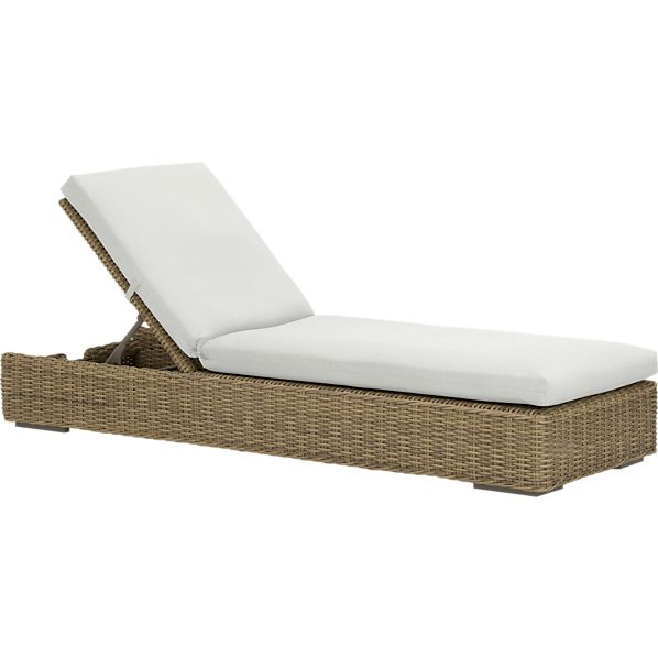 Newport Chaise Lounge with Sunbrella ® White Sand Cushion