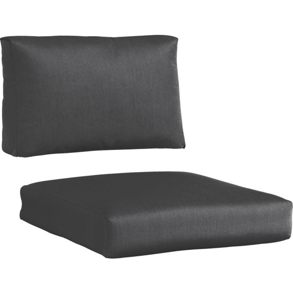 Newport Sunbrella ® Charcoal Lounge Chair Cushions