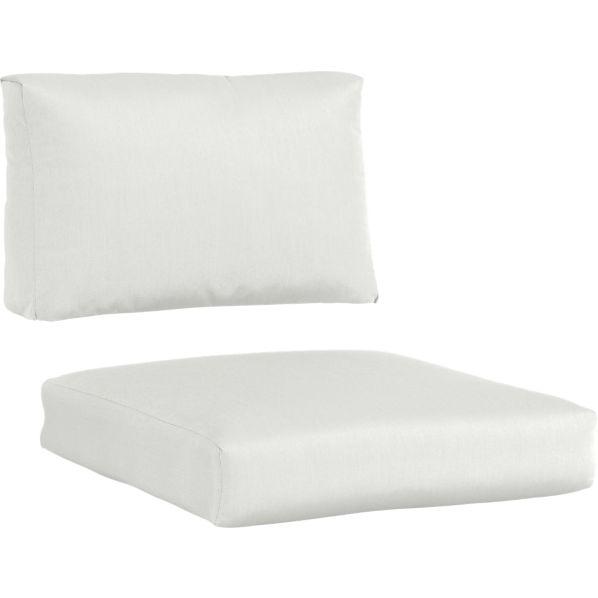 Newport Sunbrella ® White Sand Lounge Chair Cushions