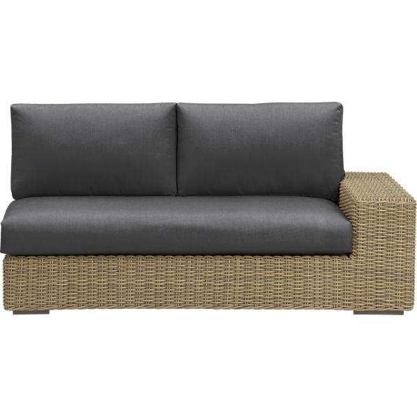 Newport Modular Right Arm Loveseat with Sunbrella ® Charcoal Cushions
