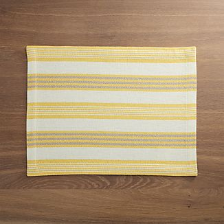 Newport Yellow Stripe Placemat