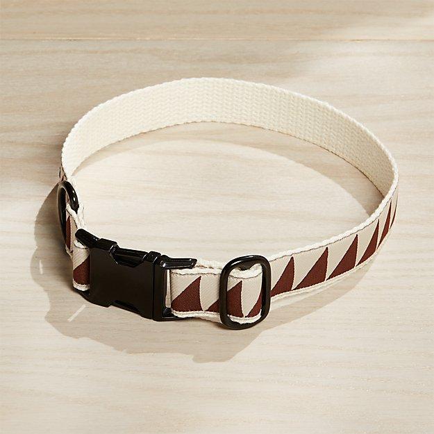 Large Nice Grill Caramel Brown Dog Collar - Image 1 of 3