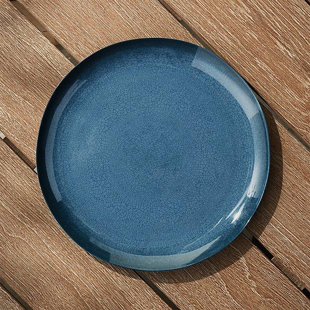 Nico Blue Melamine Dinner Plate - Image 1 of 4