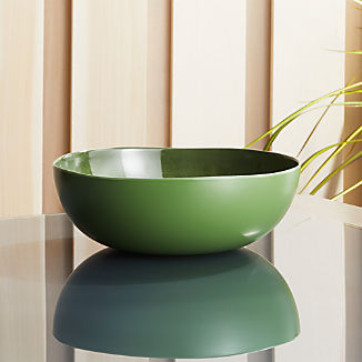 Nico Green Melamine Bowl