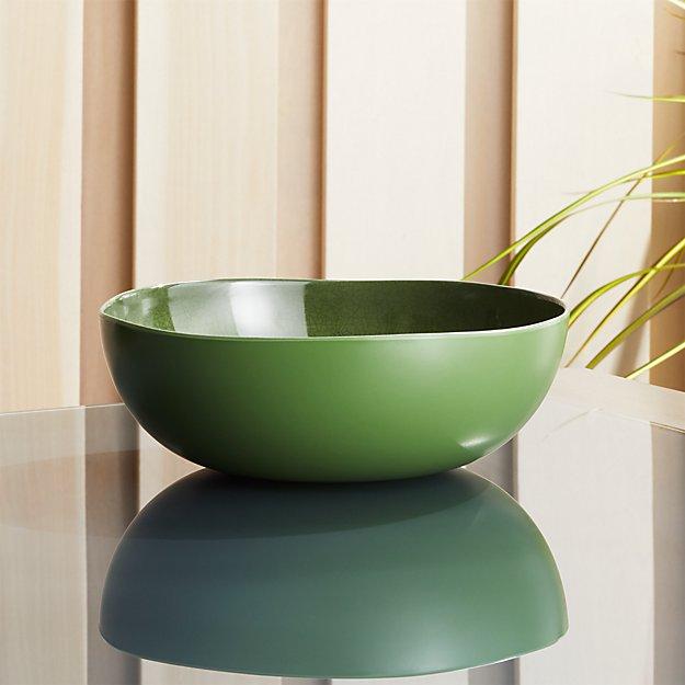 Nico Green Melamine Bowl - Image 1 of 4