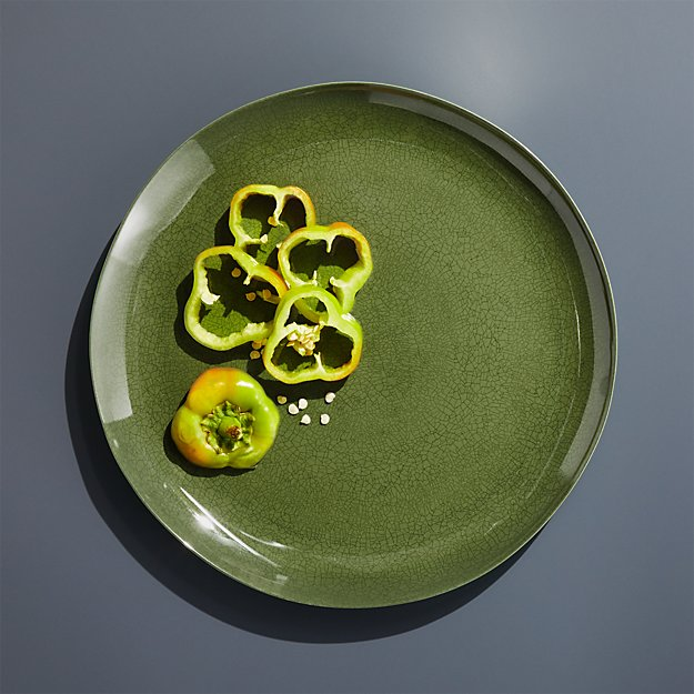 Nico Green Melamine Dinner Plate - Image 1 of 4
