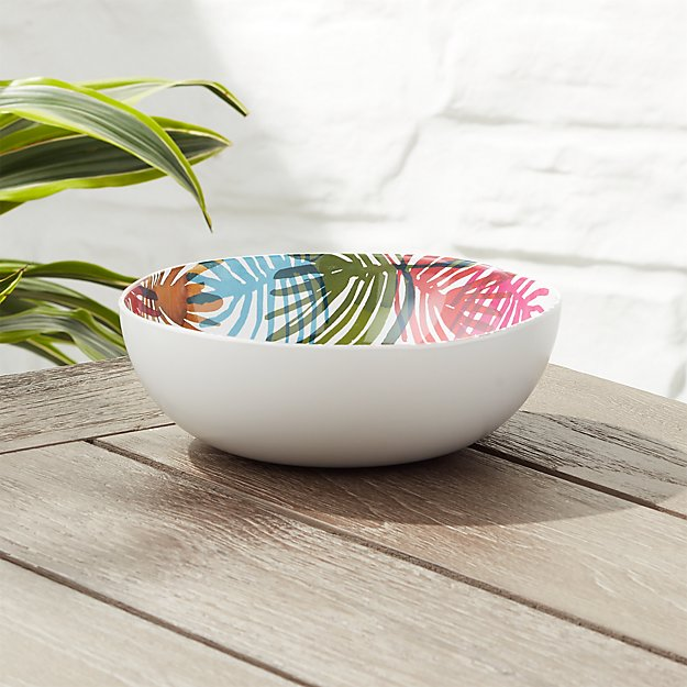 Nico Palm Melamine Bowl - Image 1 of 5