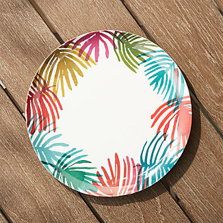 Nico Palm Melamine Dinner Plate