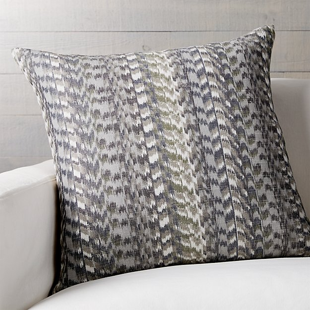 """Nico 23"""" Pillow with Feather-Down Insert"""
