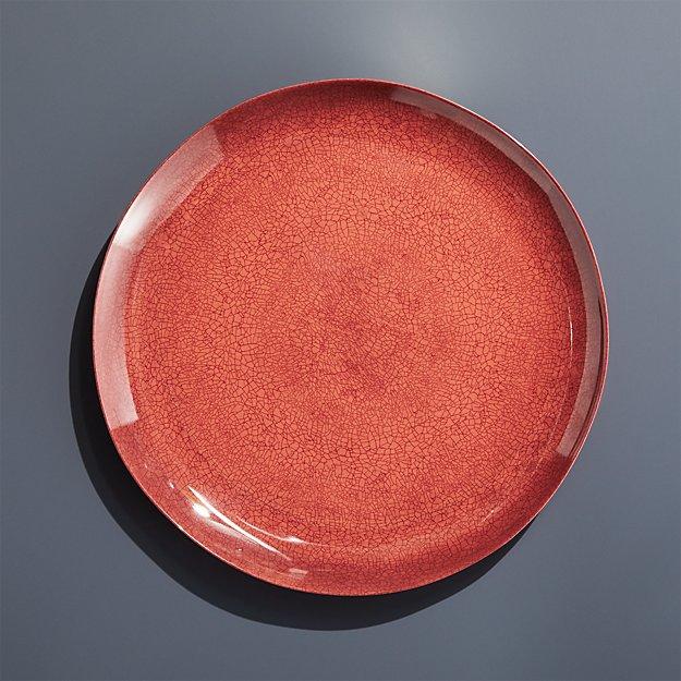 Nico Vermillion Melamine Dinner Plate - Image 1 of 4