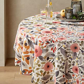 "Nicoya 60"" Round Multi Floral Tablecloth"