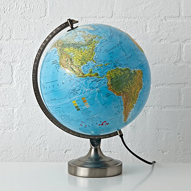 Kids Illuminated World Globe Lamp Reviews Crate And Barrel