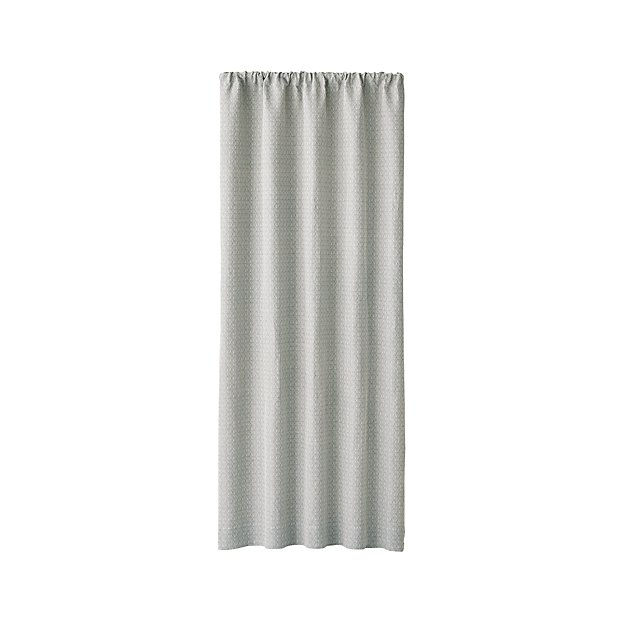 "Nikolette Neutral Patterned Curtain Panel 50""x108"" - Image 1 of 6"