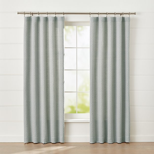 Nikolette Neutral Patterned Curtain Panel - Image 1 of 6