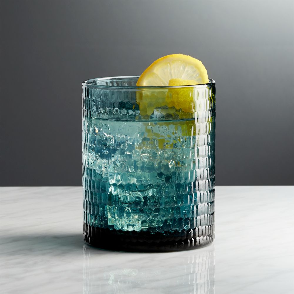 Nile Sapphire Double Old-Fashioned Glass