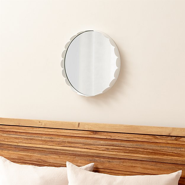 Ninna Round Scalloped Mirror Crate And Barrel