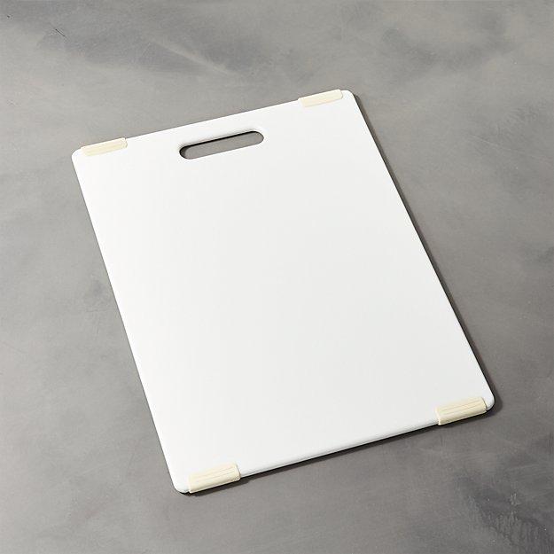 "Jelli White Nonslip Reversible 11""x14.5"" Cutting Board"