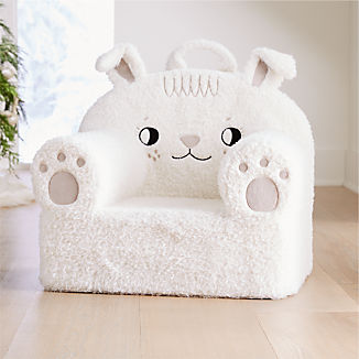 Large Furry Bunny Nod Chair