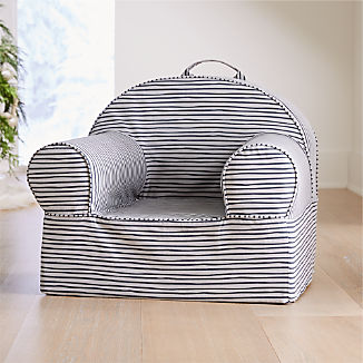 Large Grey Stripe Nod Chair