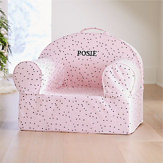 Large Pink Confetti Nod Chair