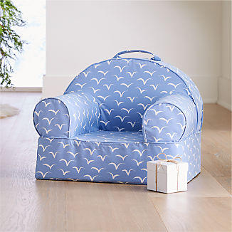 Small Periwinkle Birds Nod Chair