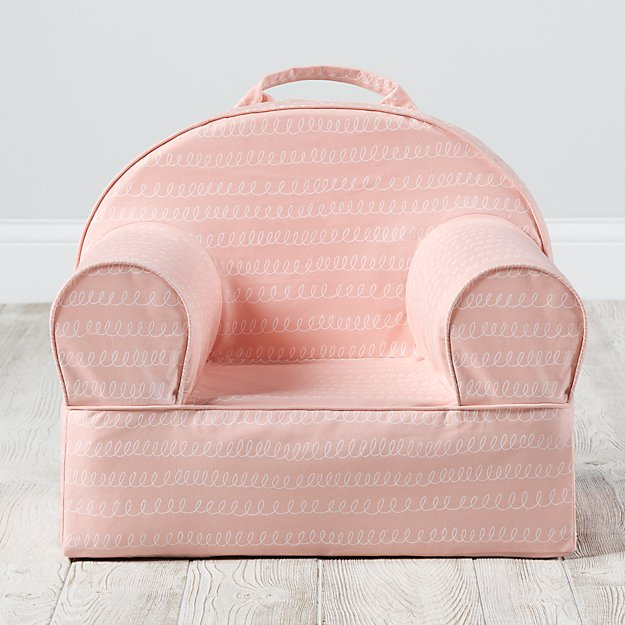 Small Pink Loop Nod Chair + Reviews | Crate and Barrel